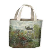 Claude Monet The Garden in Argenteuil Tote Shopping Bag For Life