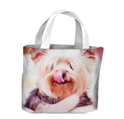 Yorkshire Terrier Dog With Tongue Out Tote Shopping Bag For Life