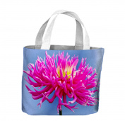 Pink Dahlia Flower Tote Shopping Bag For Life