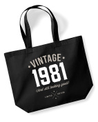 35th Birthday, 1981 Keepsake, Funny Gift, Gifts For Women, Novelty Gift, Ladies Gifts, Female Birthday Gift, Looking Good Gift, Ladies, Shopping Bag, Present, Tote Bag, Gift Idea