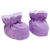 Trend Lab Reversible Baby Booties, Lilac And Plum Swirl/Satin 0-6 Mths