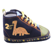 ACVIP Baby Toddler Boy's Dinosaur Pattern Canvas Crib Shoes Infant Sneakers