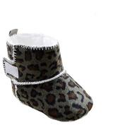 Saingace® Baby Snow Boots Soft Crib Shoes Toddler Leopard Boots