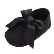 Baby Girls Floral Lace Bowknot Mary Jane Soft Soled Crib Shoes