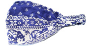 100% cotton TRIBAL THAI ELEPHANT DESIGN LADIES BANDANA (cool stylish bandana covered in a traditional siam design),Navy Blue colour