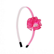 Headband 6 mm Knot Textile 5.5 cm approx Figurine Girl - Fuchsia