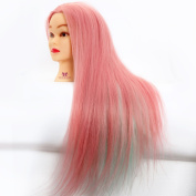 Neverland Beauty 60cm 100% High Temperature Fibre Hair Colourful Salon Cosmetology Hairdressing Training Head Mannequin + Clamp Holder