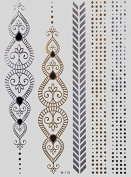 Flash GOLD silver Tattoos Temporary Tattoos Tattoo Bracelets Fashion jewellery W-115 - LK Trend & Style