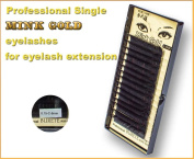 PREMIUM Quality Mink gold eyelashes 8 mm -C curl - 0.15 mm for Individual Eyelash Extension. Blink Lash Stylist alternative! For professional use!!!