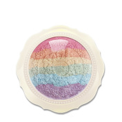Face Like Cute Baked Blusher Palette Eyeshadow Kit Rainbow Highlighter Cosmetic