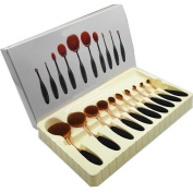 10Pcs/Set Beauty Toothbrush Shaped Brusher Make-up Kit Cosmetic Tools For Beauty
