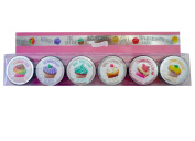 New! 6 Cupcake Lip Balm Gift Set
