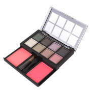 8 Colours Shimmer Eye Shadow Blusher Palette with Applicator #04