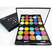 15 Colours Magical Shimmer Bright Coloured Eyeshadow Palette With Mirror