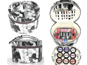 Paris memories 35pc Make Up Contour Kit Round Beauty Vanity Case Ladies Girls Gift