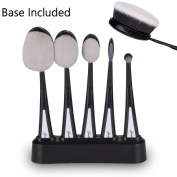 Latest Version Professional 5pcs Soft Oval Makeup Cosmetic Brush Sets Foundation Brushes Cream Contour Powder Blush Concealer Brush Makeup Cosmetics Tool Set