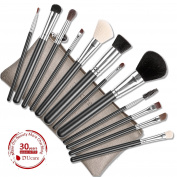 [VALUABLE SABLE GOAT BRUSHES] DUcare 12Pcs Cosmetic Makeup Brush Set with Leather Bags
