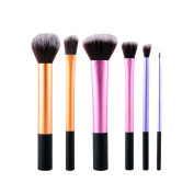 Molie 6PCS Professional Powder Cosmetic Makeup Brushes Set
