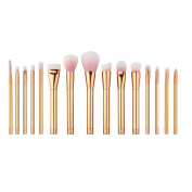 Coolgoes 2016 New Professional 15pcs Pink and Golden Makeup Brushes Set/Kit Beauty Tools Foundation Powder Face Brushes