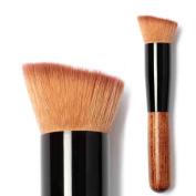 Familizo Solid Wood Handle Powder Concealer Blush Liquid Foundation Makeup Brush