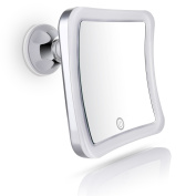 Sanheshun Makeup Mirror 7X Magnifying LED Lighted Compact Mirror with Suction Base , Square