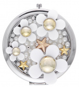 Fanyland Fancyland Women Daisy Pattern Portable Cosmetic Compact Mirror 7*7cm