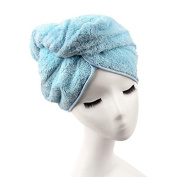 Veewon Fashion Absorbent Microfiber Hair Dry Towel Thickened Shower Caps Hair Turban Quick Dry Hat Cap
