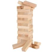 39 Pcs Plain Wooden Blocks Tumbling Jenga Building Tower Stacking Stategy Game Classic Family Entertainment Fun