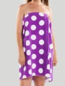 Spa Wrap Towel Wrap lavender and white polka dot
