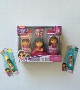 Dora The Explorer and Friends Soap & Scrub Bath Set And 2 Lip Balm