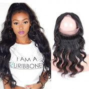 DLW Hair Brazilian Virgin Human Hair 360 Lace Band Frontal Closure Body Wave Lace Frontals With Baby Hair For Black Women