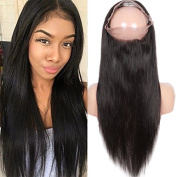 DLW Hair Brazilian Virgin Human Hair 360 Lace Band Frontal Closures Straight Ear To Ear 360 Lace Frontal Closures With Baby Hair