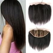 Brazilian Virgin Hair Italian Yaki Straight 13x 4 Lace Frontal Ear to Ear with Baby Hair Natural Hairline