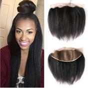Brazilian Virgin Human Hair 13*4 Silk Base Lace Frontal Closure Free Part Ear to Ear with Baby Hair Italian Yaki