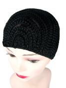 Black Cornrow Medium Wig Cap For Full Wig And Crochet