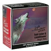 Light Mountain Henna Hair Colour & Conditioner Bright Red 120ml (a) - 2pc