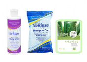 No Rinse Shampoo Cap & Body Wash Set w/ Aloe Mask