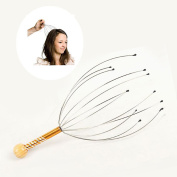 Toyofmine New Head Massager Neck Massage Octopus Scalp Stress Relax Spa Therapy Healing !