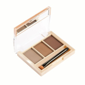 Meloision Eyebrow Kit Palette with Mirror and Brush Waterproof and Sweatproof Powder Palette
