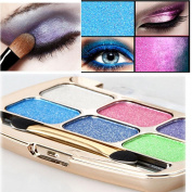Fheaven 6 Colours Eyeshadow Palette, Ultra Shimmer, Studio Colours for Smokey Eyes
