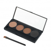 Fheaven Eyebrow Powder Eye Brow Palette Cosmetic Makeup Shading Kit Brush Mirror