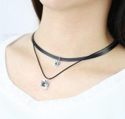 Zircon crystal pendant chorker