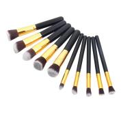 Pro Makeup 10pcs Brushes Set Powder Foundation Eyeshadow Blush Brush Tool
