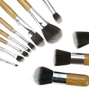 New 11Pcs Eyeshadow Foundation Concealer Makeup Brush Wood / Fibre Cosmetic Set