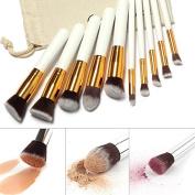 Pro Makeup*10pcs Brushes Set Powder Foundation Eyeshadow Eyeliner Lip Brush Tool