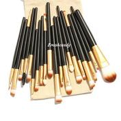 20pcs Makeup Brushes Set Professional Powder Eyeshadow Eyeliner Tool + Free Bag