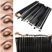 20Pcs Makeup Set Powder Foundation Eyeshadow Eyeliner Lip Cosmetic Brushes