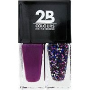 2B Colours Nail Polish Duo -Crazy Violet & Gems