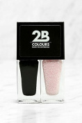 2B Colours Nail Polish Duo -Black & Pink