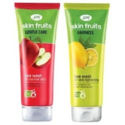 JOY SKIN FRUITS GENTLE CARE AND FAIRNESS FACE WASH WITH FRUITS EXTRACTS 100 ML EACH COMBO PACK